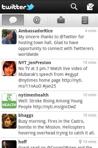 Android Twitter UI