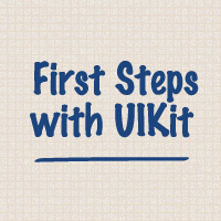 Link toFirst steps with uikit