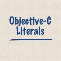 Objective c literals