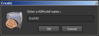 Create Dialog for the DuckAI