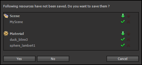 Save Prompt