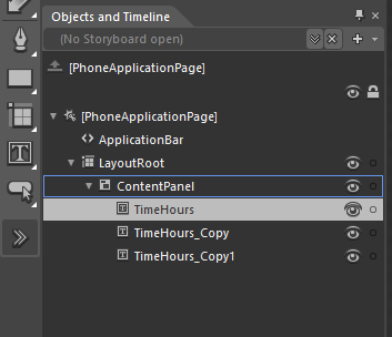 Duplicating the TimeHours control
