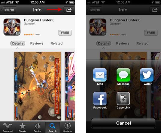 Sharing Apps