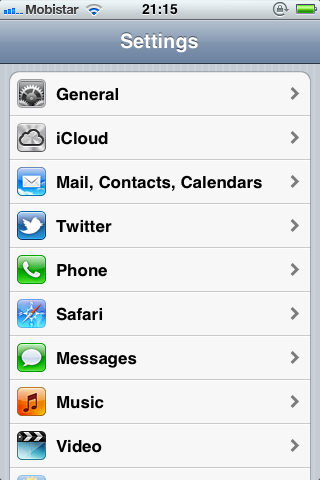 iOS 5 and The Twitter Framework (Part 1): The Settings Application - Figure 1