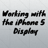 Iphone5 display ios6