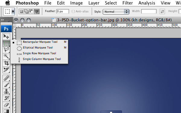 Marquee Toolbar