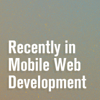 Link toRecently in mobile web development
