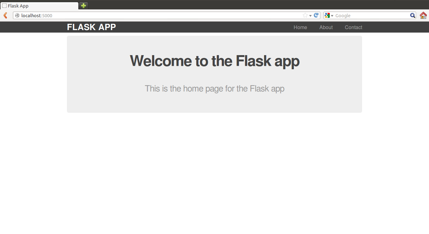 Intro to Flask: Adding a Contact Page