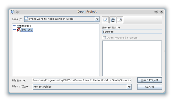 NetBeans Open SBT Project