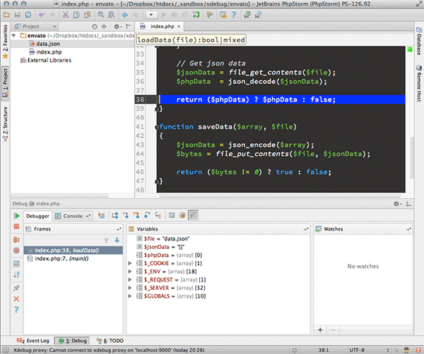 phpstorm-debugger-in-a-function