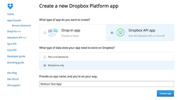 dropbox_new_app