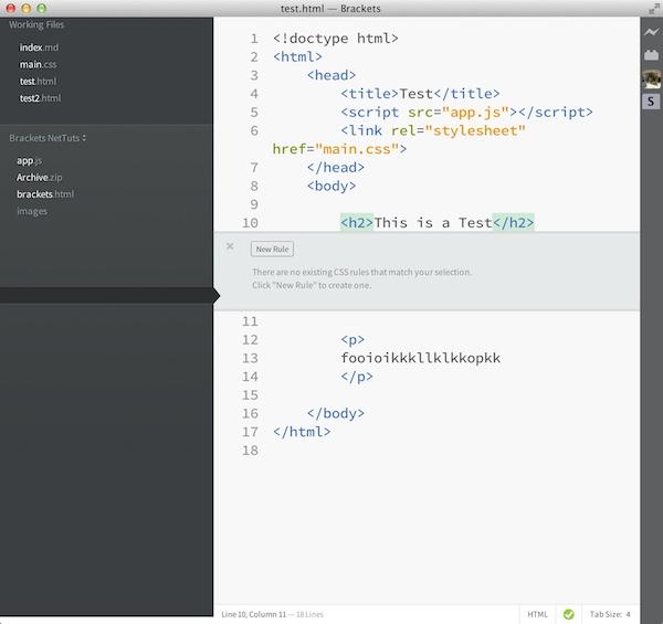 Edge code cc und brackets tutorial: vorschau im browser generieren.