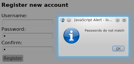 PasswordDoNotMatchAlert