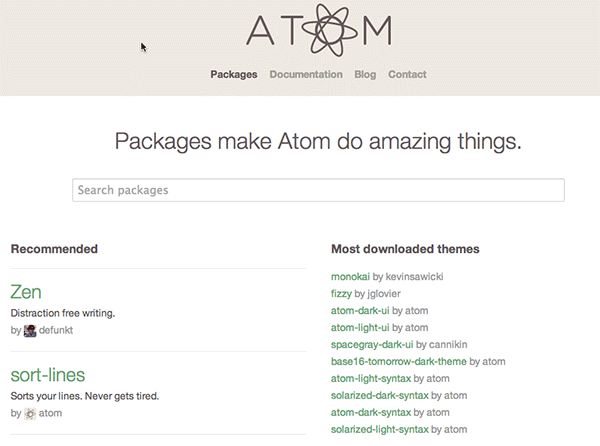 atom-packages-registry