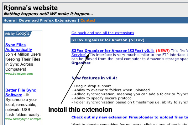 Use Amazon S3 & Firefox To Serve Static Files