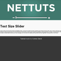 Use the jquery ui to control the size of your text