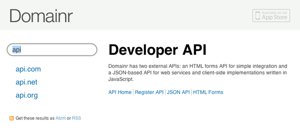 Domai.nr's API