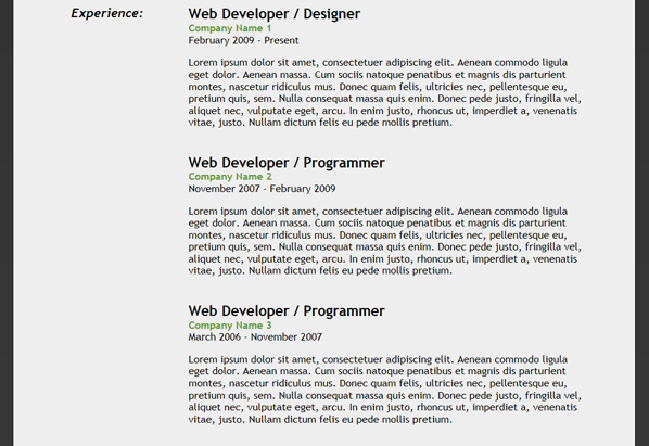 how to create an html5 microdata powered resume