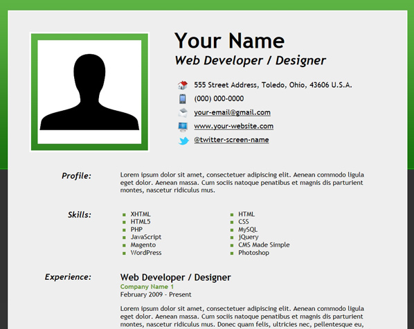 Lovely How To Create An Html5 Microdata Powered Resume