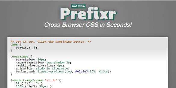 Nettuts+ Prefixr