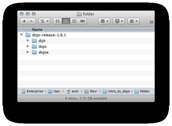 The Dojo folder structure