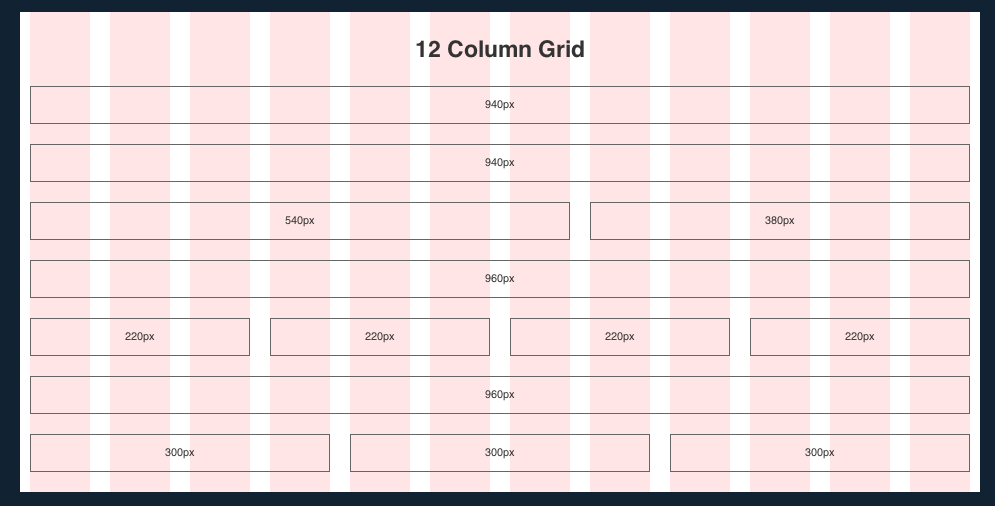 prototyping with the grid 960 css framework. Black Bedroom Furniture Sets. Home Design Ideas