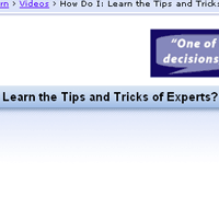 <br /> Learn the Tips and Tricks of Experts
