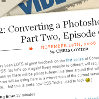 Converting a Photoshop Mockup