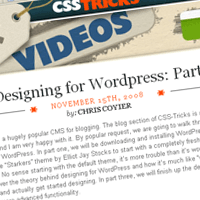 Designing for WordPress: Part 1