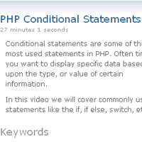 <br /> PHP Conditional Statements