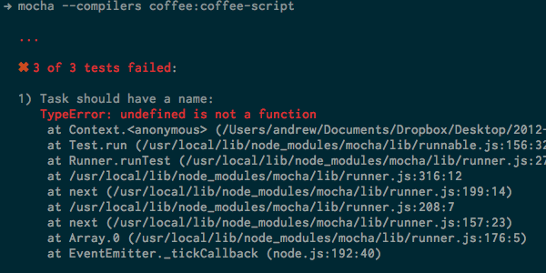Better CoffeeScript Testing With Mocha