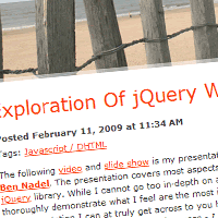 Preview for An Intensive Exploration Of jQuery