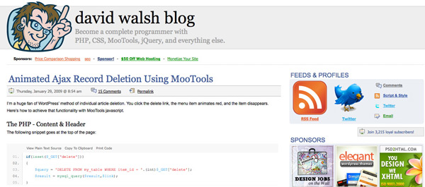 David Walsh Homepage