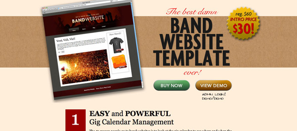 Band Websie Template