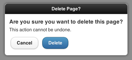 PAGE IN DELETE