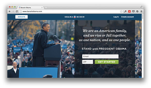 Obama For America Website