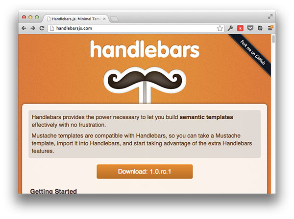 Best practices when working with javascript templates for Handlebars template tutorial