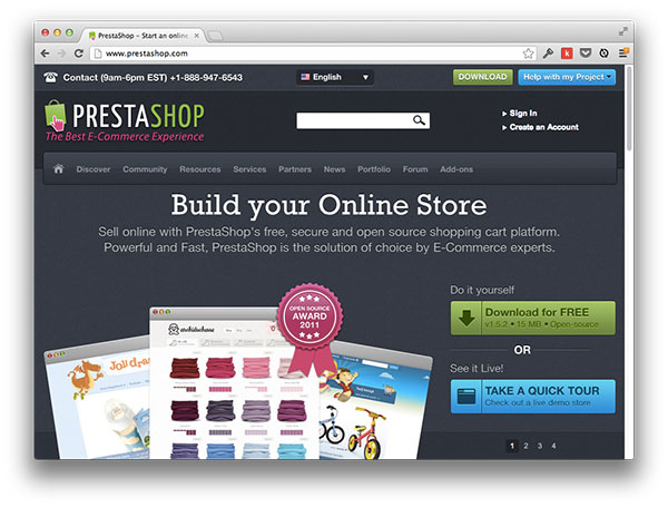 Prestashop Website