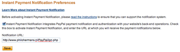Using PayPal's Instant Payment Notification With PHP