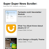 Link toHow to build a super duper news scroller