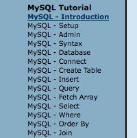 MySQL Tizag