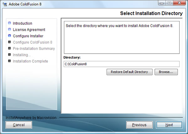 Adobe ColdFusion 8 Splash Screen