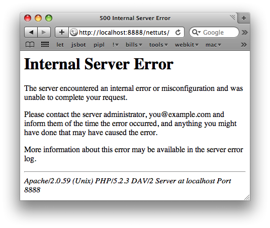 Good Internal Service Error