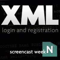 XML Login and Registration