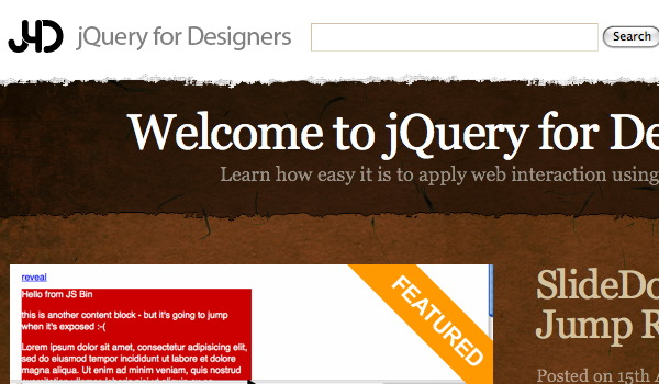 jqueryfordesigners Screenshot