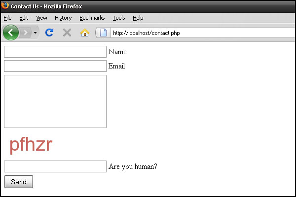 Build Your Own Captcha and Contact Form