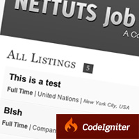 Link toCreate a jobs board with codeigniter: new premium tutorial