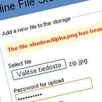 Preview for Online File Storage with PHP
