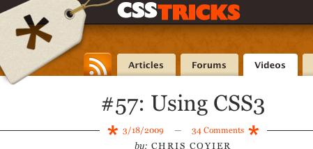 Using CSS3