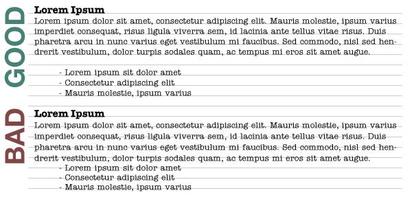 Vertical Rhythm Example